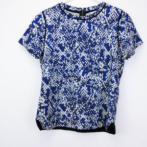 Club Monaco blue / grey zipper back thick cotton t